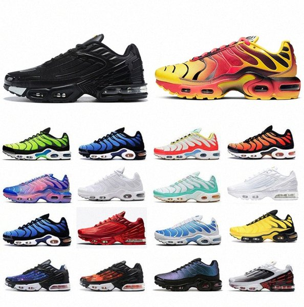 best selling 2021 Tn women running shoes mens trainers chaussures Triple Black Laser Blue Bred Hyper Violet Silver Red Smoke Grey outdoor sports sneakers size 36-45 1Xxm#