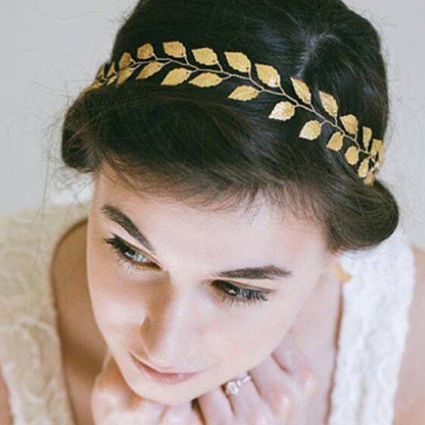 Wedding Gold Leaf Headband Wedding Hair Vine Bridal Headband Hair Jewelry Wedding Hair accessories for Women