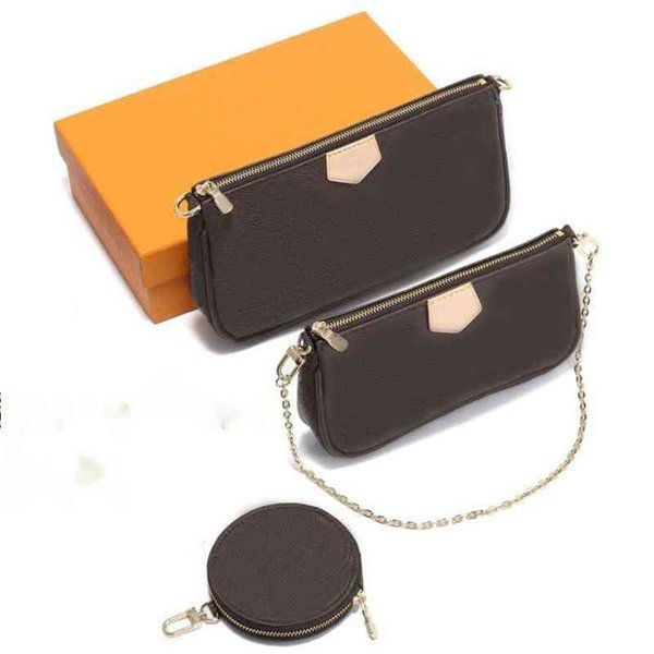 best selling Women Luxurys Designer chain bags handbags multi pochette triple Multifuncti square real leather shoulder quilted messenger high quality shoesfinder