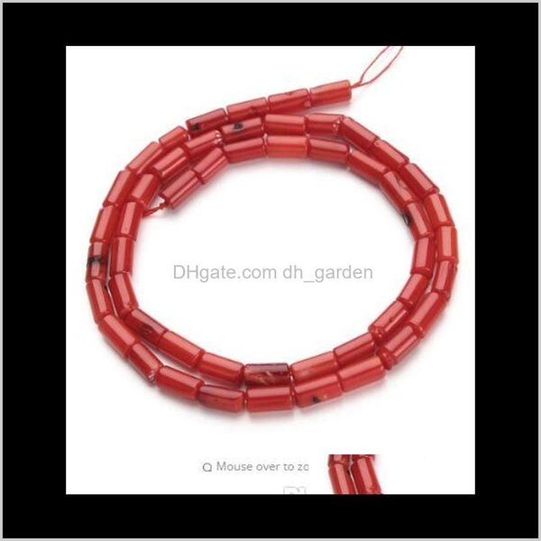 top popular Shell Bone 1Strandlot 4X8Mm Red Natural Column Coral Loose Beads For Diy Bracelet Necklace Jewelry Making Materials F2791 An2Hv Fnk15 2021
