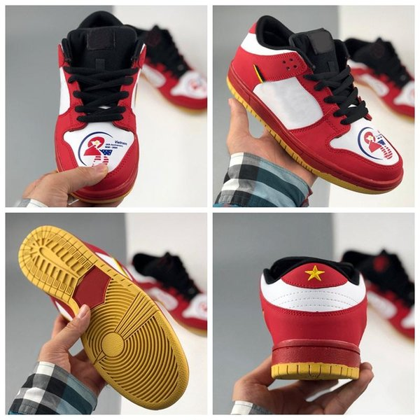 High quality, new low men's and women's basketball running shoes 25th anniversary skateboarding shoes red yellow sports shoes embroidery