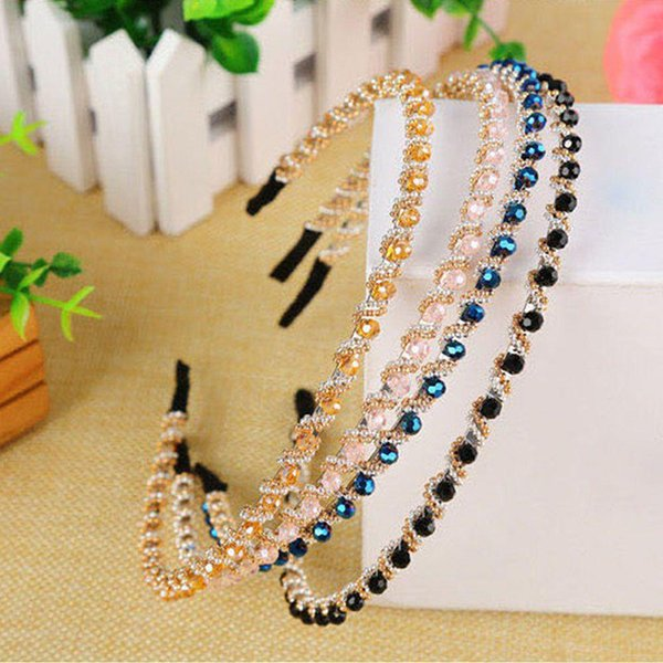 Crystal Rhinestone Jewelry Headband Headdress Hair Band Women Girl Hair Band Accessories Women Hair Hoop Hairband