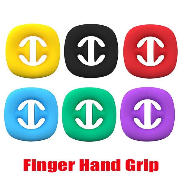 top popular Snap Sensory Popper Silicone Anti Stress Hand Grip Toy Snappers Fidget Toys Pop Fidget Sensory Decompression Grip Ring Push Bubble 2021