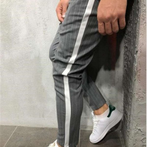 Striped Casual Pants for Mens Clothing Summer Handsome Designer Pencil Pants New 2019 Spring Fashion Mens Clothing Women Clothing Mens Jeans Pants Hoodies Hiphop ,Women Dress ,Suits Tracksuits,Ladies Tracksuits Welcome to our Store