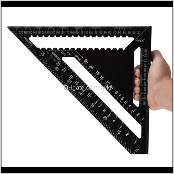 best selling Gauges Gauging Measurement Analysis Instruments Office School Business & Industrial12 Inch Black Triangle Ruler Quick Read Square Layout Tool