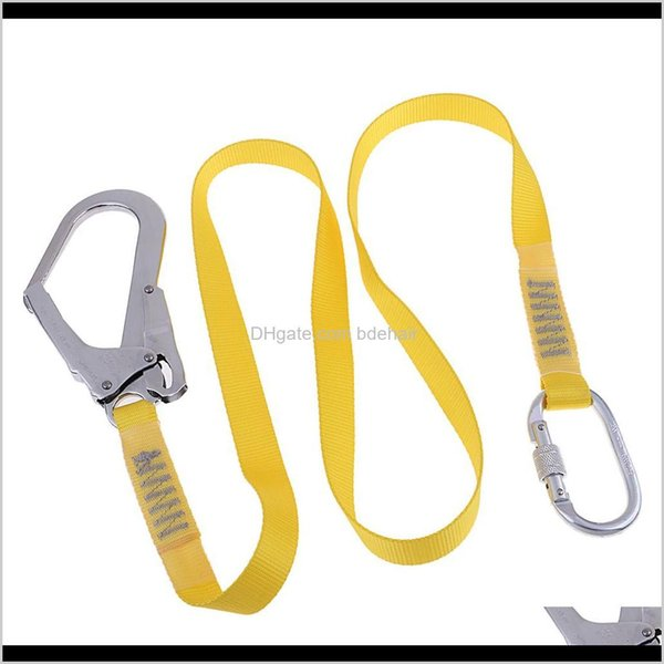 best selling Harnesses Camping Hiking Sports & Outdoors Drop Delivery 2021 Outdoor Rock Climbing Lanyard Hardness Fall Protection Rope With Snap Hooks 6E2
