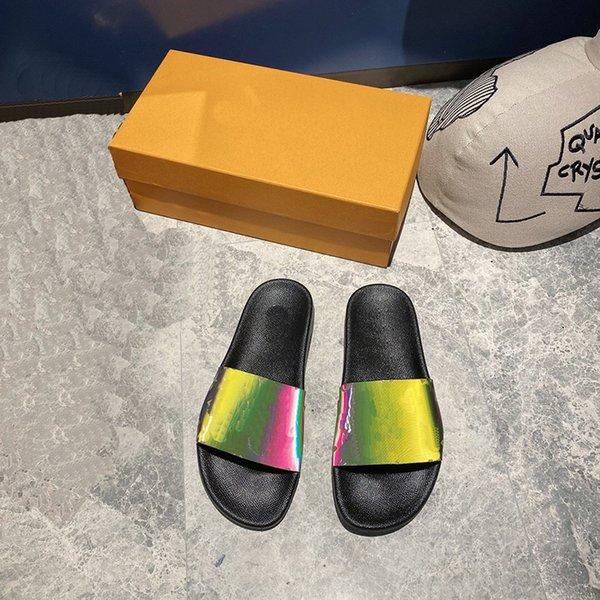 Men/Women Slippers Summer Sandals Beach-Slippers Fashion Wide Flat Sandalses Big Size with Box 35-45 26_USKJ56