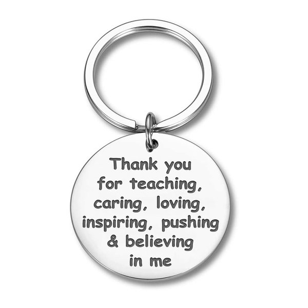 10Pieces/Lot Thank You Gifts Keychain for Teacher Mom Dad Birthday Thanksgiving Day Graduation Appreciation Gift Thank You Jewelry Gift