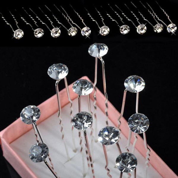 20/12/2Pcs/Lot Flower Bridal Bridesmaid Hair Clips Hair Accessories For Women Barrettes Fashion Crystal Pearl Wedding Hair Pins