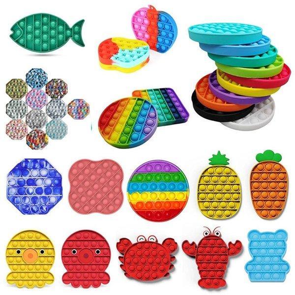 best selling DHL UPS Ship!Push Popit Bubble Fidget Sensory Toy Stress Reliever Stress Relief Toys Sensory Toys Stress And Anxiety Relief Toys For Children