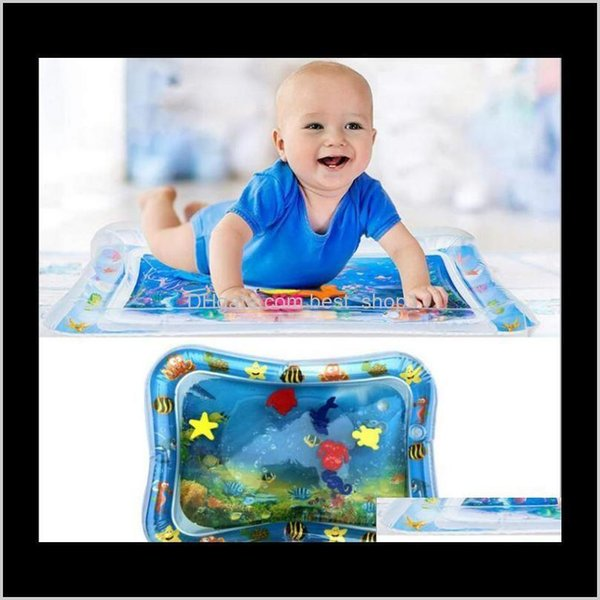 top popular Inflatable Water Baby Playing Paddles Summer Creeping Mat Games Mats Pads Cling Kids Room Floor Carpet Tapestry Ffgdf B7Cek 2021