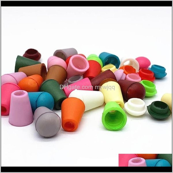 top popular Button 200Pcs Colorful Cord Ends Bell Stopper With Lid Lock Plastic Toggle Clip For Paracord Clothes Bag Sports Wear Shoe 851 V2 Lpzob 7Sh2C 2021