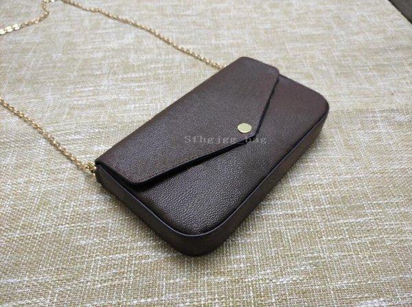 top popular 3pcs set women Shoulder bag Handbags Leather Lady Chain Crossbody Messenger bags Card holder Purse multi pochette accessories 2021