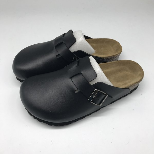 best selling Hot Sale-Clogs for Women & Men PU Leather Made Boston Clogs Slippers Unisex Berks Soft Footbed Clog Solid Color