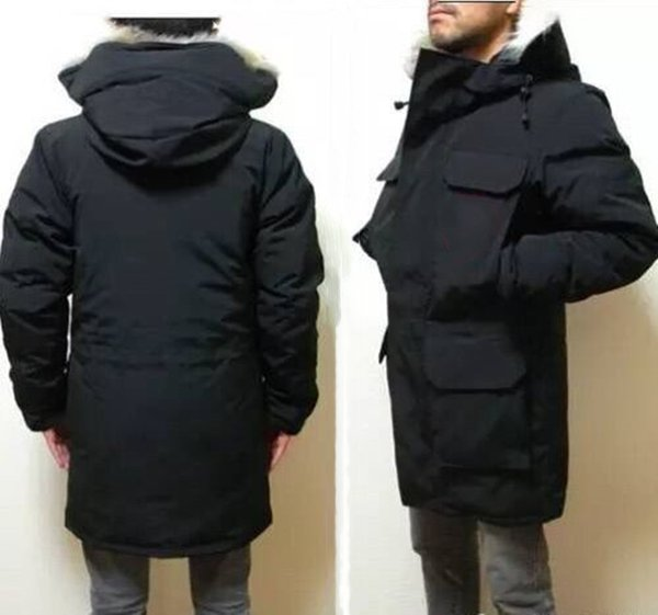 best selling Winter Down Jacket top quality Mens Puffer Jackets big real wolf fur Hooded Thick warm parka doudoune Homme Outdoor coats coat upscale fashion casual