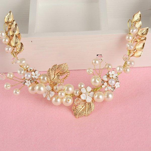 Women Pearl Hair Combs Wedding Hair Accessories Hair Pin Rhinestone Tiara Bridal Clips Crystal Crown Bride Jewelry Gifts