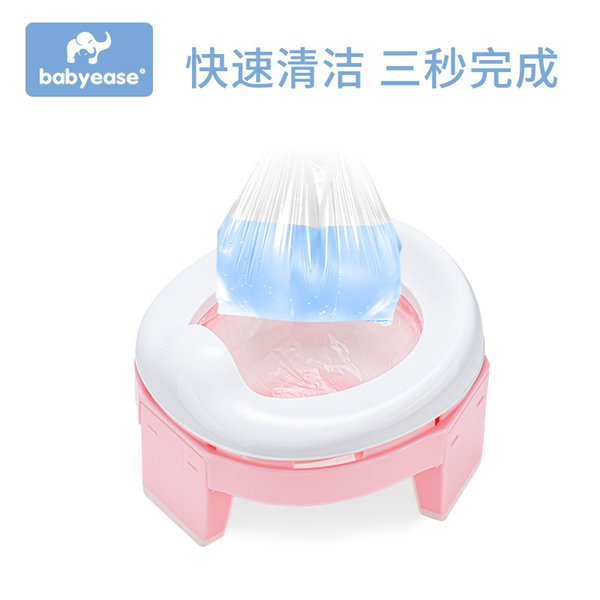 best selling Baby Pot Portable Silicone Baby Potty Training Seat 3 in 1 Travel Toilet Seat Foldable Blue Pink Children Potty With Bag 2080 Q2