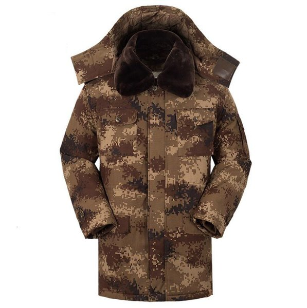 top popular New Men Winter Warm Jackets Cotton Camouflage Removable Tactical Overcoat Men's Casual Male Jacket Thicken Coats 2021