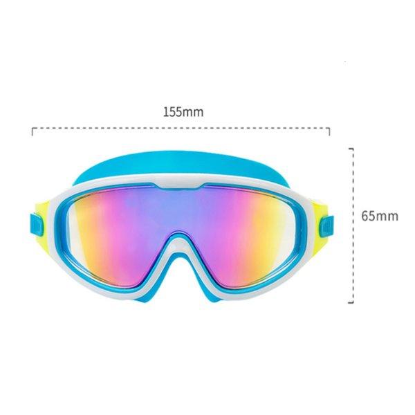 top popular Swimming Glasses Children Earplug Boy Girl Swimsuit Eyewear Cases Kids Swim Pool Goggles Anti Fog UV Protection Diving Equipment 2021