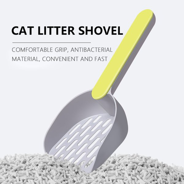Pet Cat Litter Shovel Puppy Dogs Sand Scoop Cleaning Tools Cat Toilet Products Two-color ABS Cat Poop Scoop Pet Supplies