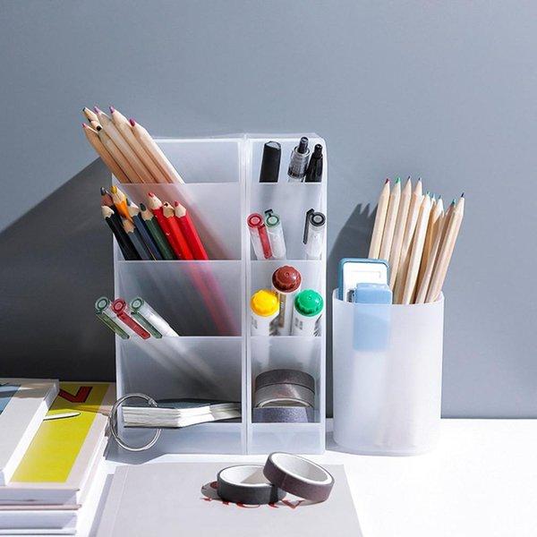 Table Sundries Storage Box Organizer Pen Stationery Storage Box Lipstick Cosmetic Makeup Brush Storage Box Holder Rack Container