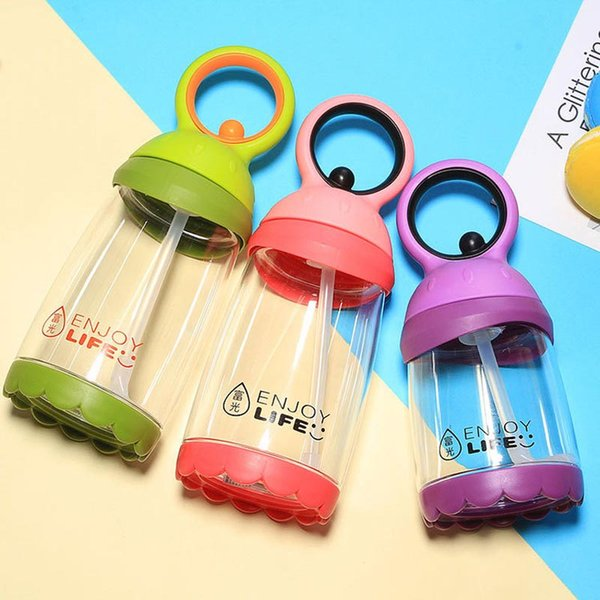 260ml Baby Kids Cute Cup Children Learn Feeding Drinking Water Straw Cup School Drinking Bottle Feeding Sippy Cup
