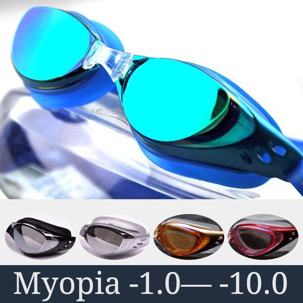 best selling Myopia Swimming Goggles Men Women Prescription Optical Swim Pool Eyewear anti fog Professional Swimming Glasses Waterproof Set