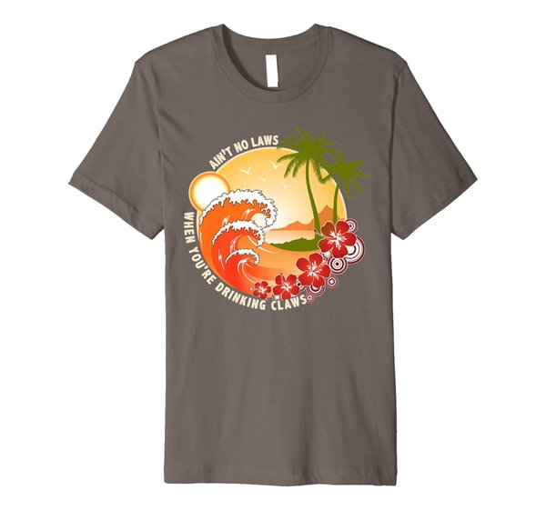 Vintage Ain't No Laws When You're Drinking Claws Funny Premium T-Shirt
