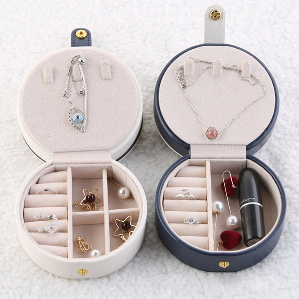 Portable Jewelry Box Container Traveling Leather Jewelry Storage Box Necklace Case Earring Jewelry Organizer Display Box