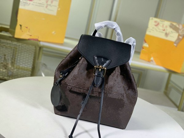 best selling MONTSOURIS Women Backpacks Cowhide Leather Letter Flower Backpack Embossed Mens Purses Pattern bag M45410 M45205 M45397