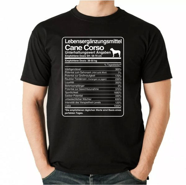 T-Shirt Unisex dose Cane Corso Life Supplements Men Dog Dogs