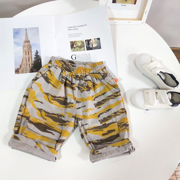 best selling New Products of South Korea in Summer 2021 Children's Camouflage Beach Pants Boys' Quick Drying Shorts