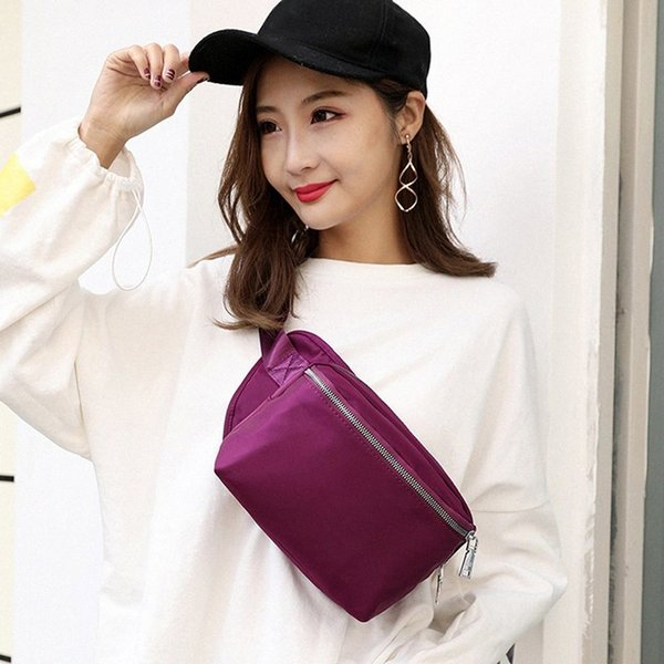 Men Women Waist Bag Chest Hip Pack Unisex Casual Travel Bum Bag Fanny Waist Pack Zipped Outdoor Sports Shoulder Cellphone Y0h5#