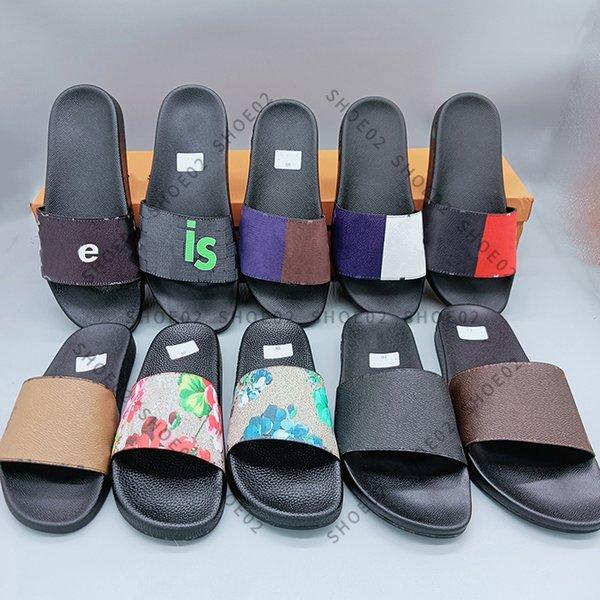 best selling Woman Man Sandal Slippers High Quality Beach causal Men Women slipper Flat shoes Slide Eu:35-45 With box 09