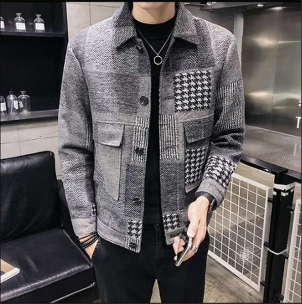 Winter Mens Jacket Lapel Neck Cashmere Plaid Coats with Pockets Fashion Long Sleeved Male Outerwear Mens Clothing Fashion Mens Clothing Women Clothing Mens Jeans Pants Hoodies Hiphop ,Women Dress ,Suits Tracksuits,Ladies Tracksuits Welcome to our Store