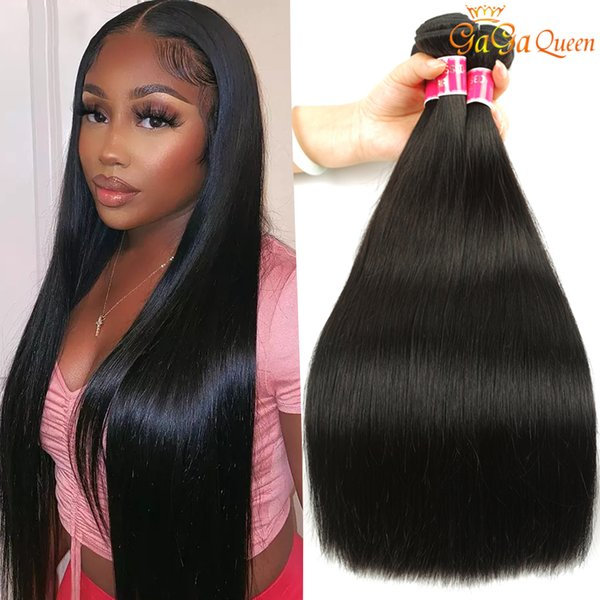 top popular Mink Brazilian Straight Hair Bundles 30inch Brazilian Virgin Hair Straight Body Deep Water Wave Human Hair Weave Extensions 2021