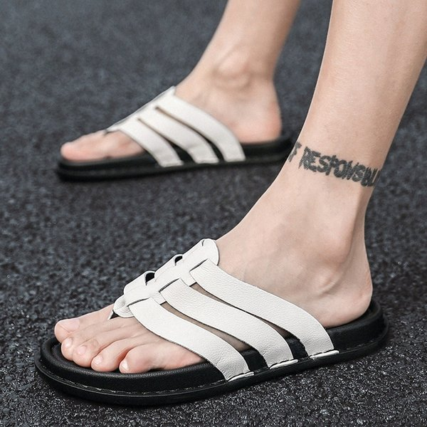 2020 New Arrival Summer Men Flip Flops High Quality Beach Sandals Non Slip Male Slippers Zapatos Hombre Casual Slipers Shoes Men X991#