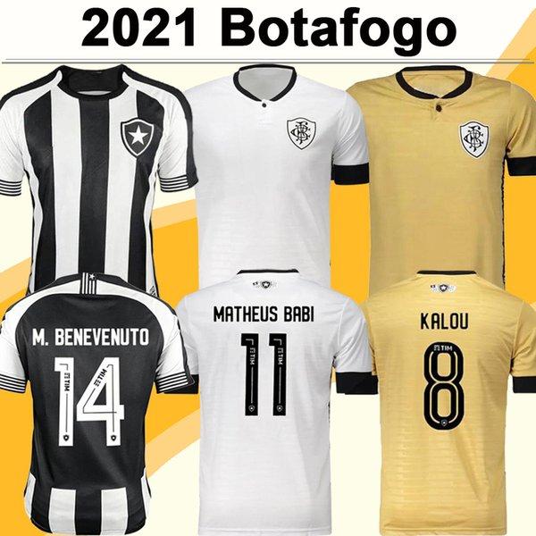 2021 Botafogo FR Mens Soccer Jerseys M.BENEVENUTO MATHEUS BABI KALOU HONDA Home 3rd Goalkeeper Football Shirts Short Sleeve Uniforms