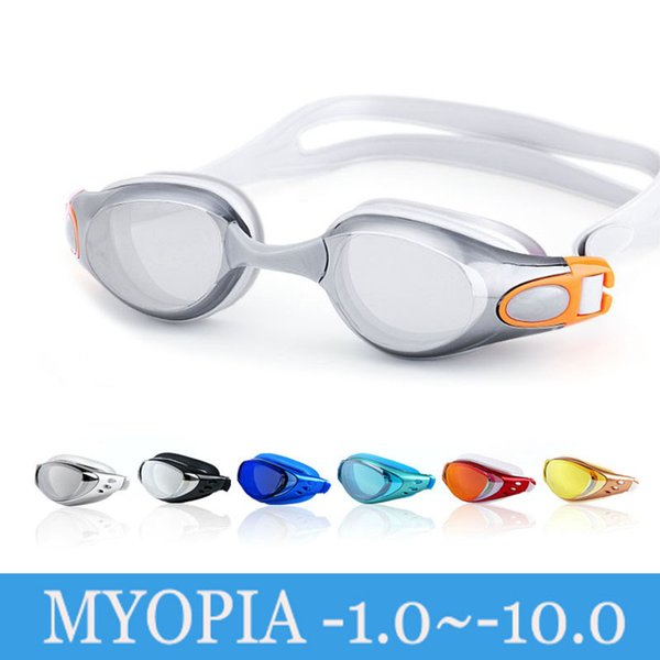top popular Swimming Glasses Myopia Adult Professional Anti Fog Electroplate Natacion Men Women Swim Pool Goggles Diopter Water Swim Eyewear 2021