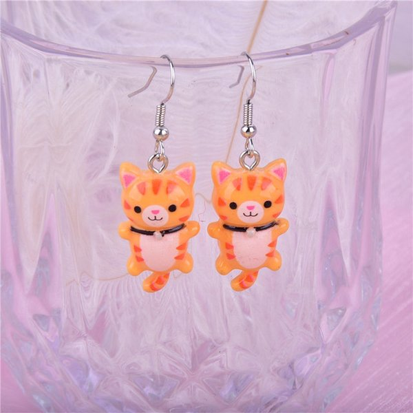 Cheap 10pcs/pack Kawaii Cat Charms Pendants for Jewelry Making Animal Resin Charms Jewlery Findings DIY Craft