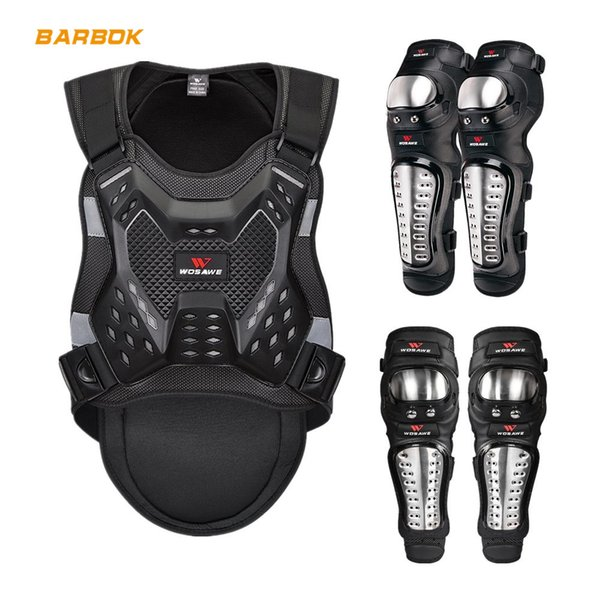 best selling WOSAWE Adult Sports Motorcycle Armor Protector Jacket Ski Back Protection Suit Motocross Protective Gear Body Support Bandage