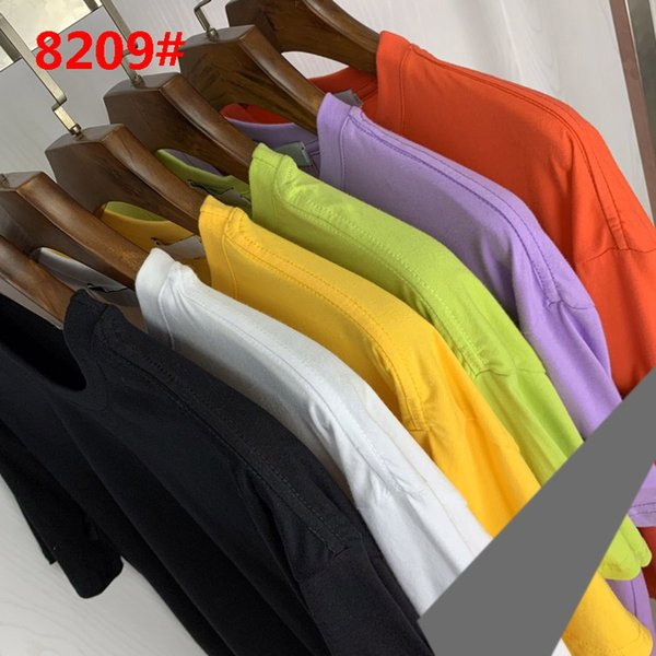 best selling Brand designed #8209 Classic T-shirt Summer Fashion 6color Casual Men's short-sleeved Tee shirts M-2XL 2021 high quality