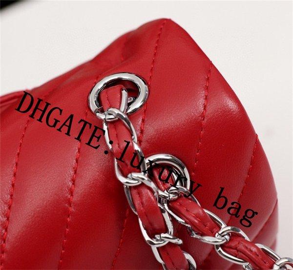 top popular 2021 Women Luxury Designer Shoulder Bags Brand Fashion Purse Mini Classic Genuine Leather Crossbody handbag Caviar Texture Chain Flap Bag 2021
