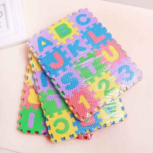 best selling 36pcs Set Children Alphabet Letters Numerals Puzzle Colourful Kids Rug Play Mat Soft Floor Crawling Puzzle Kids Educational Toys 837 V2