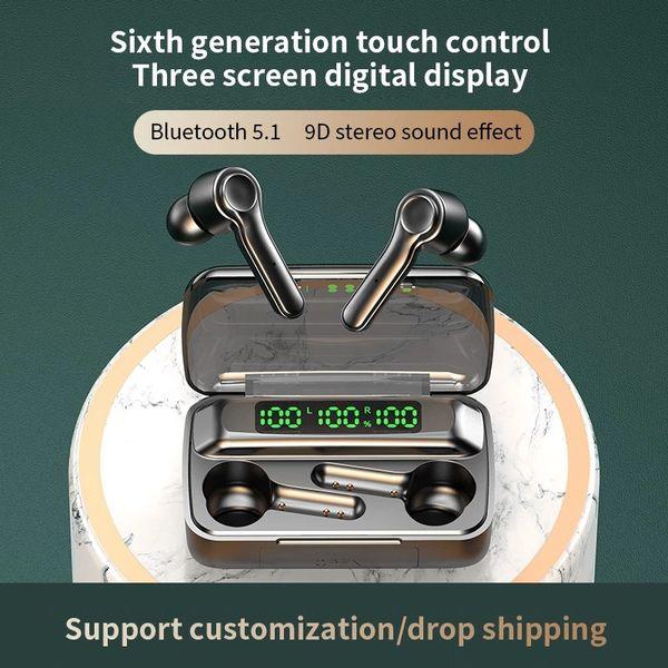 best selling TWS Wireless BT5.0 Earphone Waterproof Sports Headphone 9D Hifi Stereo Mini Earbuds Noise Canceling Headsets With Microphone