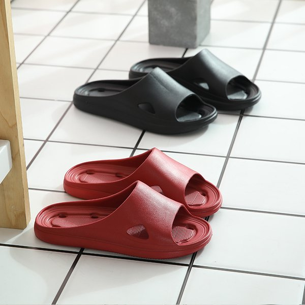 Super Soft Slippers Home Slippers Solid Color Thick-soled Non-slip Sandals And Slippers For Men And Women Outdoor Bath