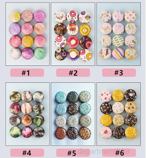 top popular Tinplate Jar Empty Tin Can Donut Metal Handmade Aroma Candle Making Accessories Mini Box with Lid Small Home Decor OWD2905 2021