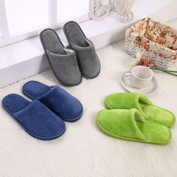 Shoes Men Warm Home Slippers Plush Soft Indoors Anti-slip Winter Floor Bedroom zapatos de hombre #3N27