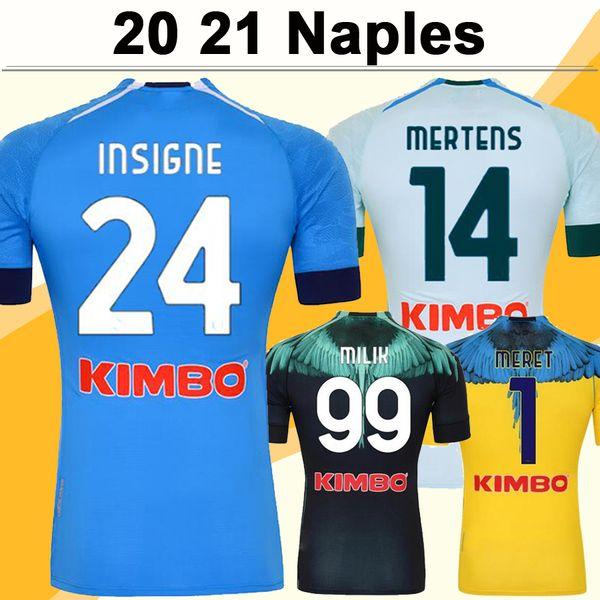 20 21 Naples MERTENS INSIGNE Mens Soccer Jerseys MAKSIMOVIC H. LOZANO MILIK ZIELINSKI Home Away Away Football Shirt Short Sleeve Uniforms