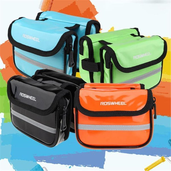 top popular Frame Bag Waterproof Bicycle Top Storage Pouch Tube Frame Pannier Pu Material Cycling Accessories1 2021